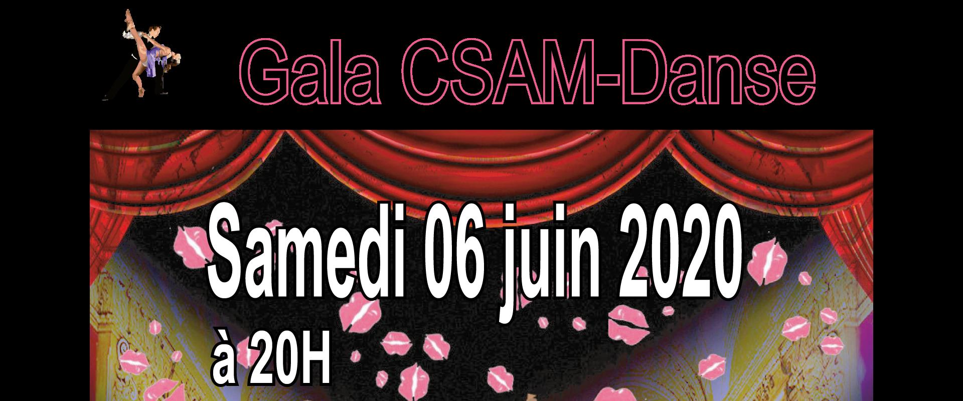 AFFICHE CSAM gala 06 juin 2020 bandeau
